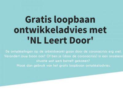 Gratis loopbaan ontwikkeladvies met NL Leert Door